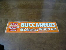Vintage Tampa Bay Buccaneers Old Logo Bumper Sticker 62 WSUN Country !0 Years