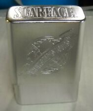 Scarface Metal Cigarette Case Holder (The World Is Yours), BRAND NEW