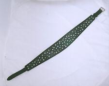 Original SISLEY Damen Taillengürtel Gürtel Grün Dunkelgrün Nieten Größe S  NEU