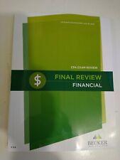 Becker CPA Final Review Financial v3.4 Brand new.