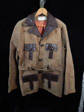 Vtg(?) Men's Lomeli of California Brown Leather Button Down Coat Size 40 w/ Belt
