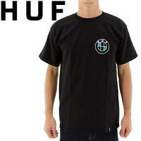 Men's HUF Bavaria T-Shirt  short Sleeve Black Size S M L  BRAND NEW