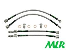 SAAB 93 9-3 TURBO MK1 98-03 STAINLESS STEEL BRAIDED BRAKE LINES HOSES PIPES XP
