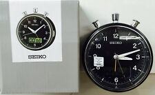 SEIKO SILENT SWEEP Black Alarm Clock Stopwatch and Countdown Timer QHE114K LIGHT