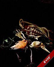 HUNTING GAME BAG & DEAD BIRDS HUNTER STILL LIFE PAINTING ART REAL CANVAS PRINT