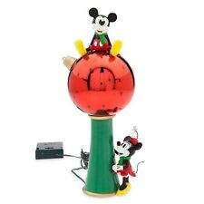 Disney Store Mickey and Minnie Light Up Christmas Ornament Tree Topper Decor