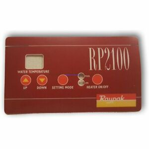 Raypak RP2100 Thermostat Overlay (Decal/Sticker/Label) - Gas Pool & Spa Heaters
