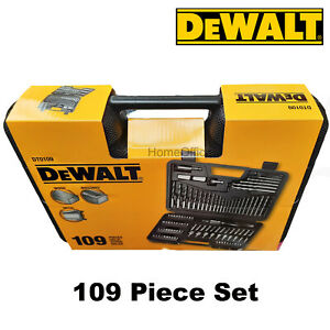DEWALT DT0109 Tool Screwdriver And Drill Bit Set 109 Piece Metal, Wood & Masonry