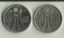 Belgique --2 Pièces Albert II. 50 FB - Euro 2000 - FR et FL.     (2 scans)