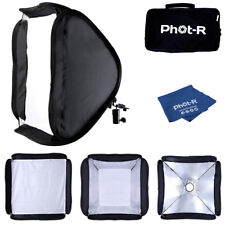 Phot-R 40cm Folding Softbox Diffuser Hotshoe Flash Speedlight Microfibre Cloth