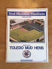 TOLEDO MUD HENS 1988 SOUVENIR PROGRAM NED SKELDON STADIUM DEDICATION MINT