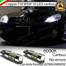 COPPIA LUCI POSIZIONE 10 LED MERCEDES-BENZ SLK T10 W5W BIANCO CANBUS NO ERROR