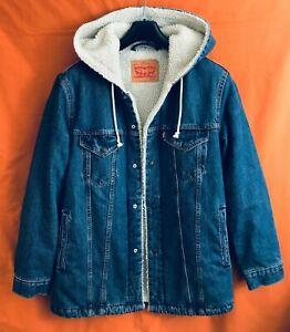 Levi Strauss Vintage Blue Jean Sherpa Jacket Size S