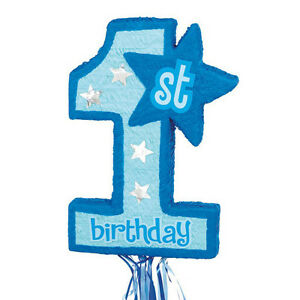 FIRST BIRTHDAY BLUE Age 1 Piñata perfect for boys first birthday!