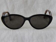 Vintage Calvin Klein 708S 040 Black/ Tortoise Cat Eye Oval Sunglasses Rare Nice