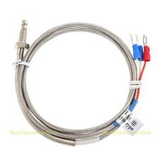 1m High Temperature Cable PT100 RTD with 6mm Thread Thermometer Sensor