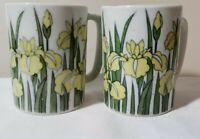 Otagiri Yellow Iris Coffee Mug - Pair