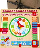 Jaques of London Wooden Toys My First Calendar for Kids with Learning Clock –