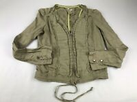 Hei Hei Anthropologie Green Cropped V Neck Jacket Size 6 XS S Small FLAW