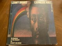 LENNY BRUCE CARNEGIE HALL VINYL 3LP'S UNITED ARTISTS WITH POSTER