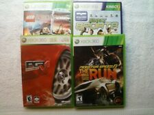 4 XBOX 360 GAME LOT-LEGO LORD OF THE RINGS/NEED FOR SPEED THE RUN/PGR 4,SKU 2210