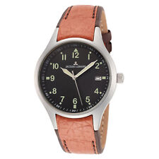 Jacques Lemans Unisex Sport 36mm Black Dial Leather Watch