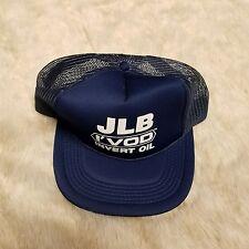 Blue JLB I'VOD Invert Oil Truckers Hat Flat Brim Snapback Mesh Flaw Baseball Cap