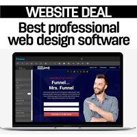 Best landing builder professional web design software,Unlimited use,free hosting