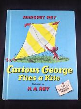Curious George Flies a Kite by Margret Rey (1958 Hardcover) Like New