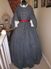 Civil War Reenactment Drop Sleeve Day Dress Size 14