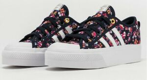 """ADIDAS NIZZA 2"""" HI PLATFORM ATHLETIC SNEAKERS TRAINERS WOMEN SHOES FLORAL NEW"""