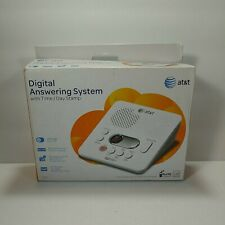 AT&T 1740 Digital Answer System with Time Day Stamp 60 Min Recording Time White