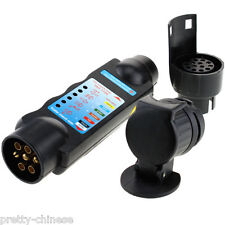 Full Set 7 & 13 Pin Socket Car Van Trailer Towing Lights Wiring Circuit Tester
