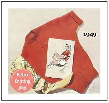 1940's Cardigan Knitting Pattern - Rockabilly - Pin Up - Copy