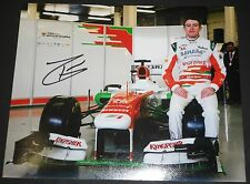 """Paul di Resta  hand signed 8""""x10"""" photo  + signing photo proof & C.O.A."""