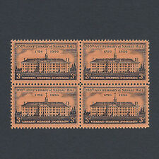 Princeton University 200th Anniversary Vintage Mint Set of 4 Stamps 62 Years Old