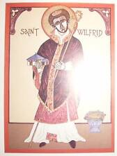 SAINT WILFRID BISHOP IKON  /POSTCARD  COUNCIL OF WHITBY CHURCH ORTHODOX VESTMENT