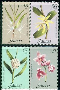 SAMOA 637-40 SG688-91 MNH 1985 Orchids 1st Series set of 4 Cat$4