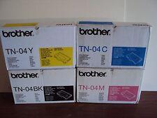 4 GENUINE Brother HL-2700CN MFC-9420CN Printer Copier TONER CARTRIDGE TN-04 TN04