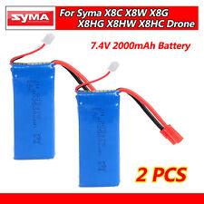 2pcs 7.4V 2000mAh Lipo Battery For Syma X5C-PRO X8HC X8HW X8HG X8G X8W X8C Drone
