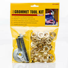 """New Grommet Tool Kit with Fifty (50) 1/2"""" Brass Coated Grommets"""