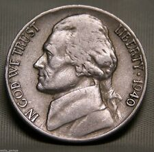 1940 D Jefferson Nickel, Nice, Circulated, Low Mintage of 43.5 Mil, Free Ship