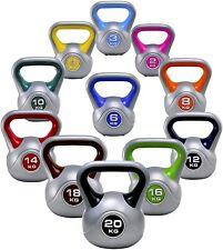 York Fitness Vinyl KETTLEBELL Weights Kettle Bell 2,4,6,8,10,12,14,16,18 or 20kg