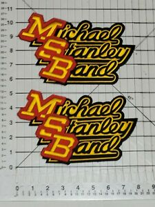MICHAEL STANLEY BAND LOT OF 2 LARGE PATCHES / EMBROIDERED 5 X 8 INCHES ..ALBUMS