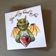 Illustrated Edgar Valentines Dinosaur Heart Greetings Card 2019
