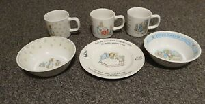 Wedgewood Peter Rabbit Cup X 3. Bowls X2 and plate. All as new. Never used