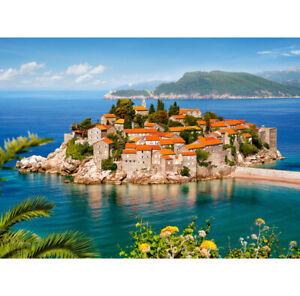 New 2000 Pieces pcs Puzzle jigsaw Castorland Sveti Stefan, Montenegro C-200580