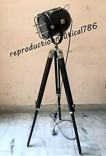 Vintage Black Coated E 27 Floor Lamp With Black Chrome Tripod Modern Decorative