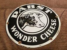 Pabst Wonder Cheese Porcelain Sign Farm Cow Milk Dairy Food Diner Grocery Beer
