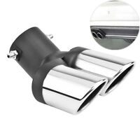 63mm Durable Stainless Steel Car Exhaust 1 to 2 Dual Pipe Tail Throat End Trim